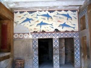 Delfini di Cnosso a Creta - Dolphins of Knossos to Creta - extract from Wikipedia - intotheblue.it