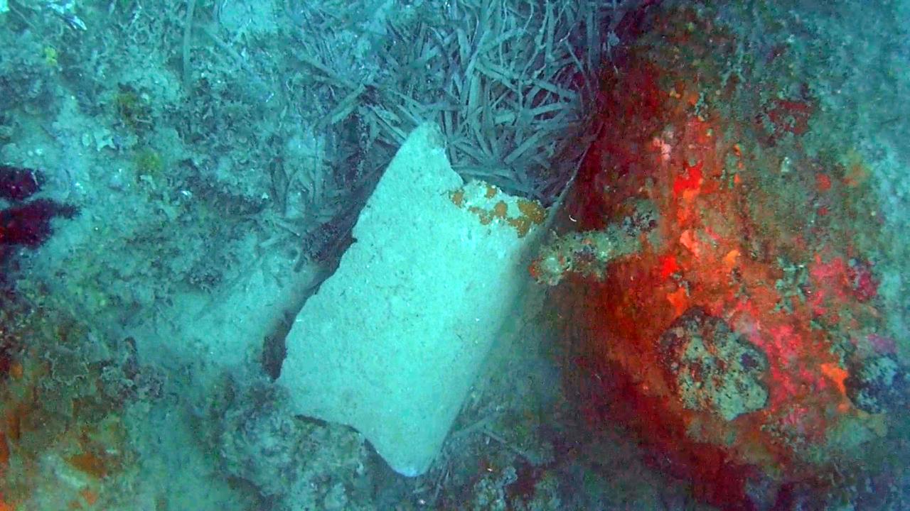 Mina navale della seconda Guerra Mondiale (particolare del sistema di detonazione) - Naval mine of the Second World War (particular to the detonation system) - intotheblue.it