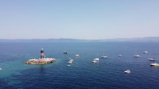 The reefs of Lighthouse Vada near Livorno