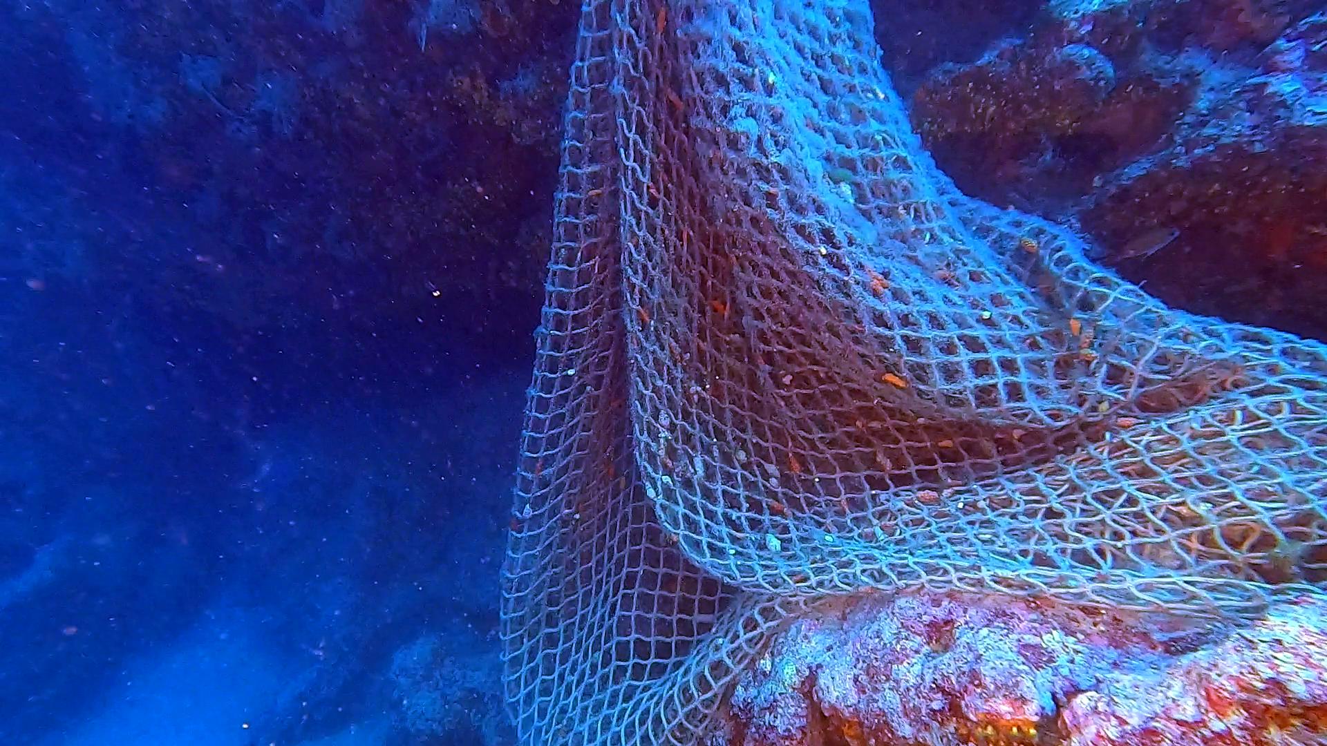 SOS Mediterraneo e Oceani - SOS Mediterranean sea and Oceans - Rete a strascico afferrata - grabbed Trawl net - intotheblue.it
